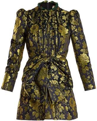 Gucci Romantic Flower-jacquard high-neck dress