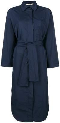 Odeeh side slit boxy shirt dress