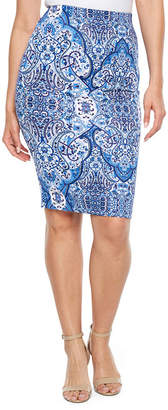 Bold Elements Scuba Pencil Skirt