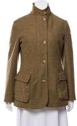 Loro Piana Cashmere Fur-Trimmed Jacket
