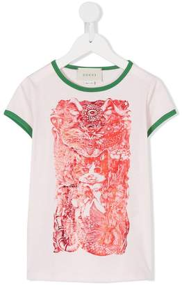 Gucci Kids cat print T-shirt