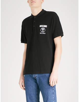 Moschino Logo-detail cotton-piqué polo shirt