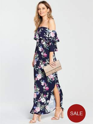 Very Petite Tiered Jersey Maxi Dress - Floral Print