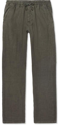 Altea Garment-Dyed Linen Drawstring Trousers