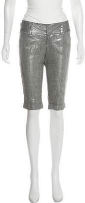 Alice + Olivia Linen Knee-Length Shorts