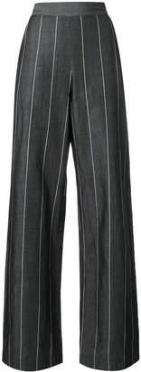 Piazza Sempione striped wide leg trousers