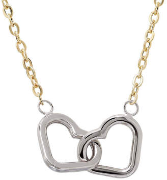 FINE JEWELRY LIMITED QUANTITIES! 10K Two-Tone Gold Interlocking Hearts Necklace