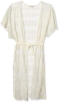 Michael Stars Women's Romy Woodland Lace Wrap with Belt
