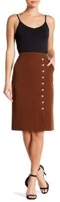 ONEBUYE Button Detailed Skirt