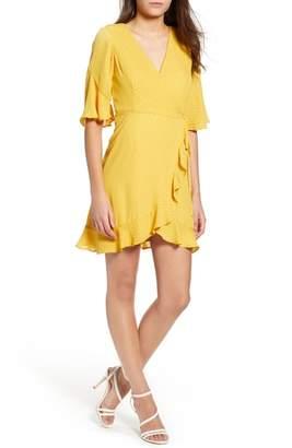 Leith Polka Dot Wrap Dress