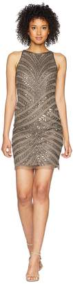 Adrianna Papell Sleeveless Fully Beaded Short Cocktail Dress Women's Dress