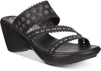 Callisto Tyler Embellished Slide Wedge Sandals