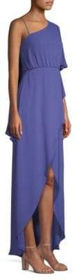 BCBGMAXAZRIA Draped One-Shoulder High-Low Dress