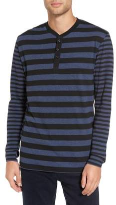 Slate & Stone Striped Long Sleeve Henley T-Shirt