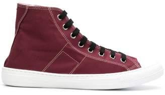 Maison Margiela contrast hi-top sneakers