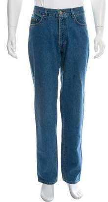 Gucci Contrast Stitch Straight-Leg Jeans