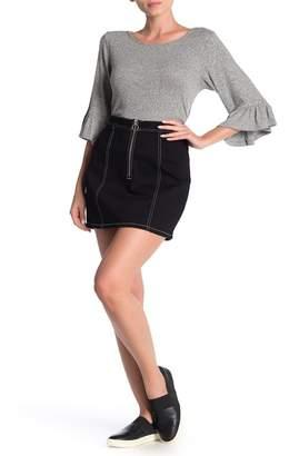 BB Dakota Zip To It Denim Mini Skirt