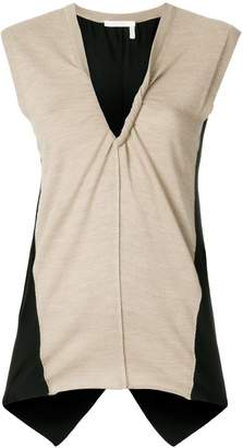 Chloé panelled jersey top