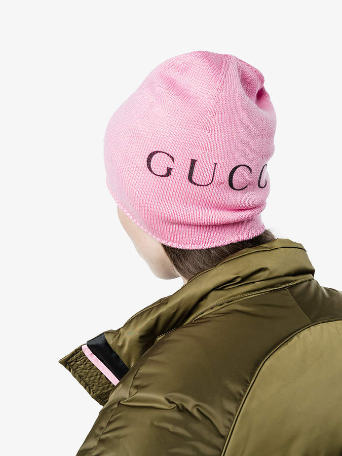 gucci rose beanie with cat print damen. Black Bedroom Furniture Sets. Home Design Ideas