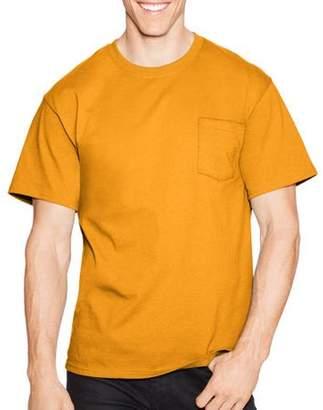 Hanes Big Men's Tagless Short Sleeve Pocket T-shirt