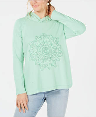Style&Co. Style & Co Embroidered-Medallion Hooded Sweatshirt