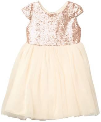 Dorissa Holly Cap Sleeve Sequin Dress (Little Girls)