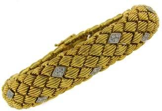 David Webb Vintage Diamond Yellow Gold Bracelet