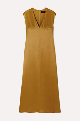 Joseph Donall Silk-satin Midi Dress - Light brown