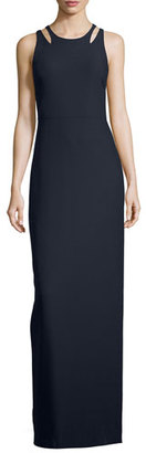 Elizabeth and James Sleeveless Cutout Ponte Column Gown, Navy $625 thestylecure.com