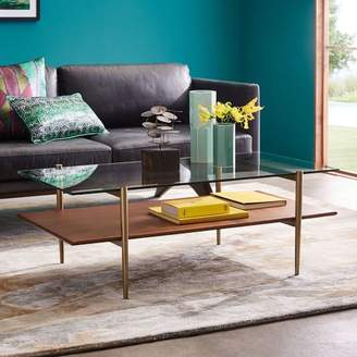 west elm Mid-Century Art Display Coffee Table - Walnut