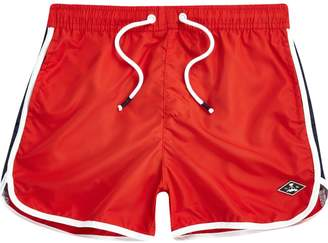 River Island Boys Red runner swim shorts