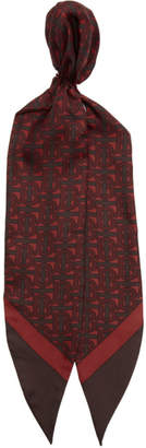 Burberry Red Monogram Hair Scarf