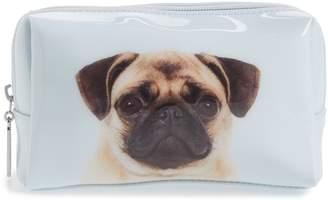 Catseye London Pug on Blue Cosmetics Case