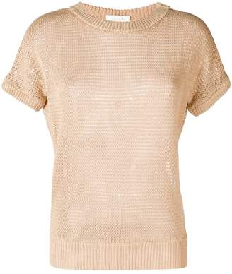 Zanone knitted short sleeve top