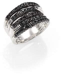 John Hardy Women's Bamboo Black Sapphire& Sterling Silver Multi-Band Ring