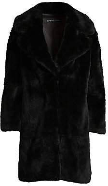 Adrienne Landau Women's Rex Rabbit Fur Coat