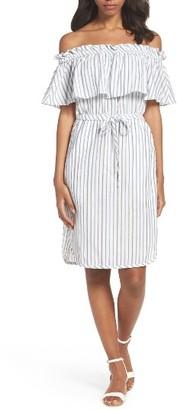 Women's Bcbgmaxazria Alexis Off The Shoulder Dress $258 thestylecure.com