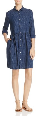 FRENCH CONNECTION Indigo Cross Button-Up Dress $128 thestylecure.com