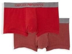 Emporio Armani Two-Pack Stretch Cotton Trunks