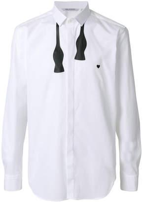Neil Barrett bow tie print shirt