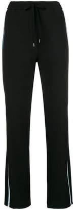 No.21 side-stripe drawstring trousers