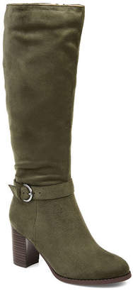 Journee Collection Womens Joelle Dress Boots Zip Stacked Heel