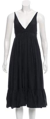 Balenciaga Pleated Silk Dress
