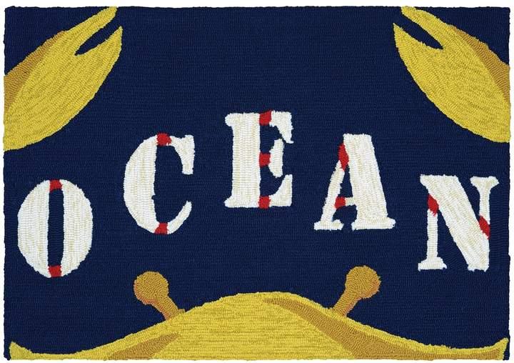 CouristanCouristan Covington Accents Gone Crabbing ''Ocean'' Indoor Outdoor Rug - 2' x 3'