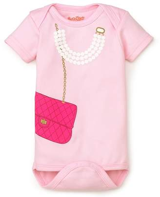 Bloomingdale's Sara Kety Girls' Bag & Pearls Bodysuit - Baby