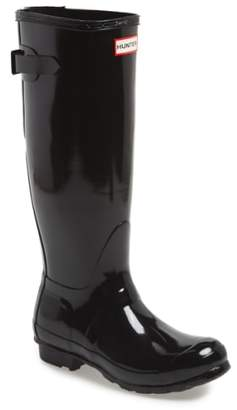 Hunter Adjustable Back Gloss Rain Boot