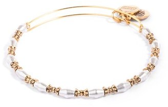 Women's Alex And Ani 'Juniper' Two Tone Adjustable Wire Bangle $38 thestylecure.com