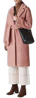 Whistles Textured Wrap Coat