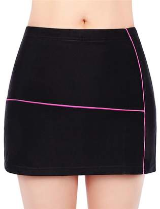 Endand Women Cycling Shorts Skirt 4D Gel Padded Black Underpant Bicycle Bike Underwear L