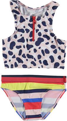 Stella McCartney Camo Sport Two-Piece Bikini, Size 6-14